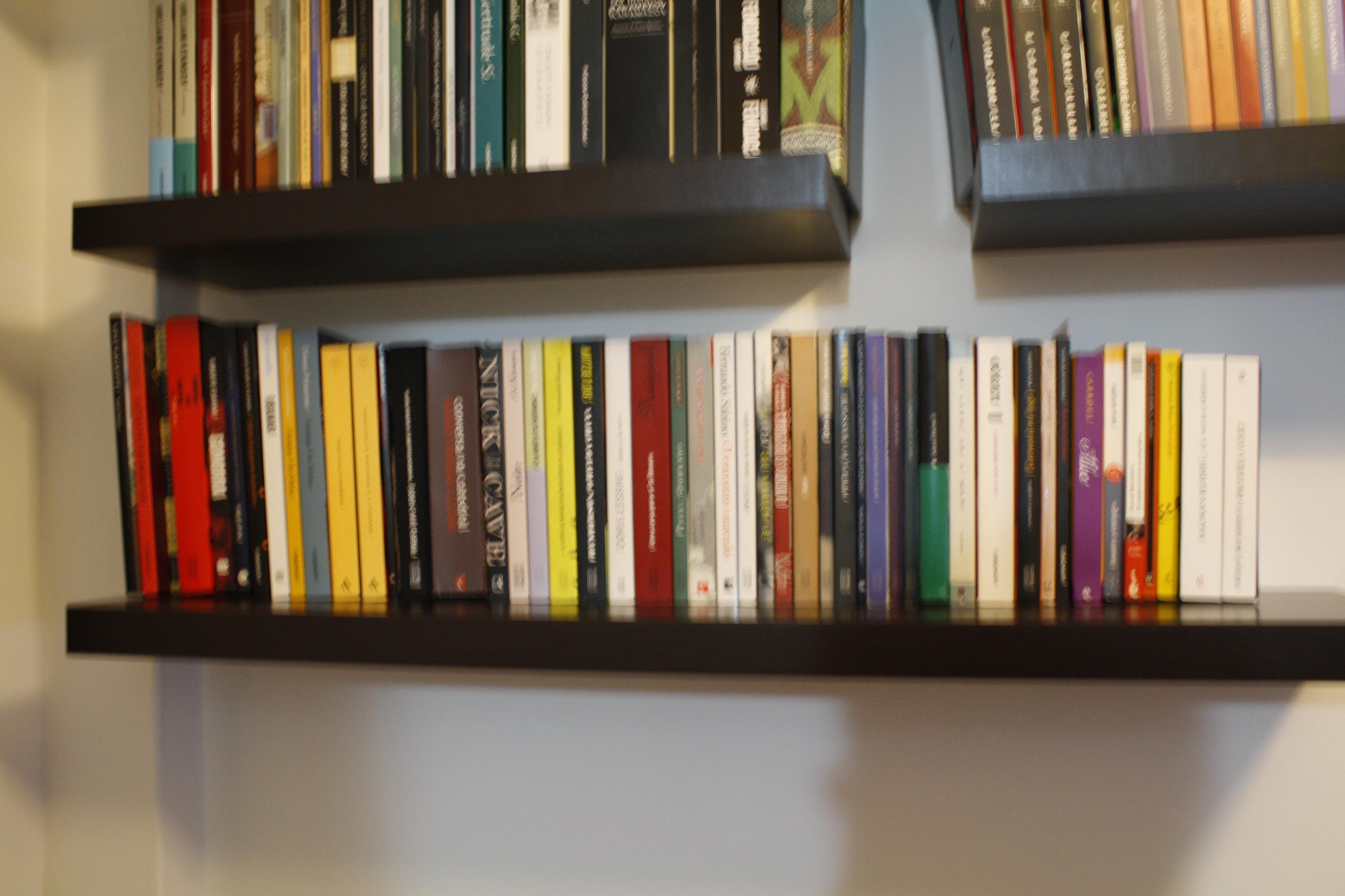 H bitos de leitura 2 organizando sua estante livrada for Distancia entre estantes biblioteca
